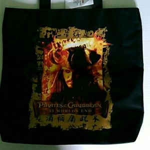 Jack Sparro Pirate of the Caribbean Tote Bag NWT